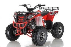 APOLLO COMMANDER DLX 125CC ATV w/Upgraded Chrome Rims, Auto With Reverse 4-Stroke, Single Cylinder, OHC - FULLY ASSEMBLED AND TESTED
