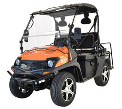 Orange - Massimo Buck 200X UTV, 177cc Four-Stroke, Single Cylinder EFI