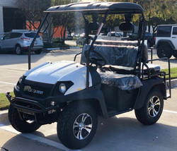 White - Fully Loaded Cazador OUTFITTER 200 Golf Cart 4 Seater UTV