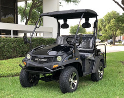 Black - Fully Loaded Cazador OUTFITTER 200 Golf Cart 4 Seater UTV