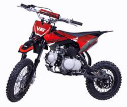 VITACCI DB-V6 125cc Dirt Bike, Kick Start, Single Cylinder, 4-Stroke, Air Cooled