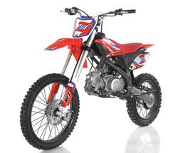 Apollo DB-Z40 Max 140cc Dirt Bike, Double Beam Heavy Duty Steel Frame