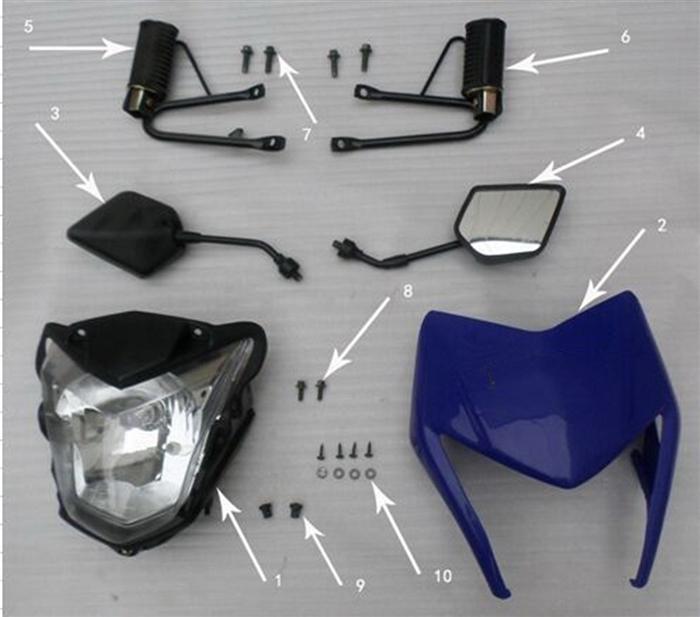 Hawk 250 Rubber Sleeves (Headlight-Stem)