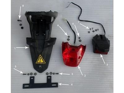 Hawk 250 Screws, Washers (Light-Fender)