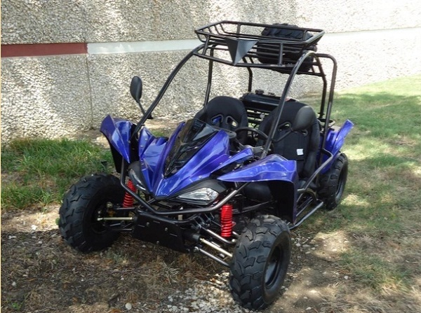 """New Rps Tiking 125-3 (Tk125-3) Go Kart 8"""" Rims And Tires 1 Spare Tire , Auto With Reverse"""