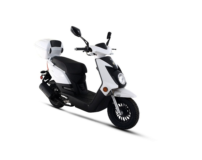 Amigo Q-50-FA 4 Stroke Gas Moped Scooter, Remote Start, USB Port, Alarm, Front ABS