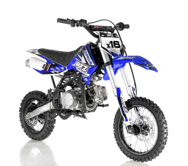 Apollo DB-X16 125cc RFZ Fully Automatic Kick Start Racing Dirt Bike, 4 stroke Single Cylinder - Fully Assembled and Tested