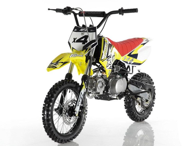 APOLLO DB-X4 RFZ 110CC RACING DIRT BIKE, 4 STROKE AIR COOLED, SINGLE CYLINDER - FULLY ASSEMBLED AND TESTED