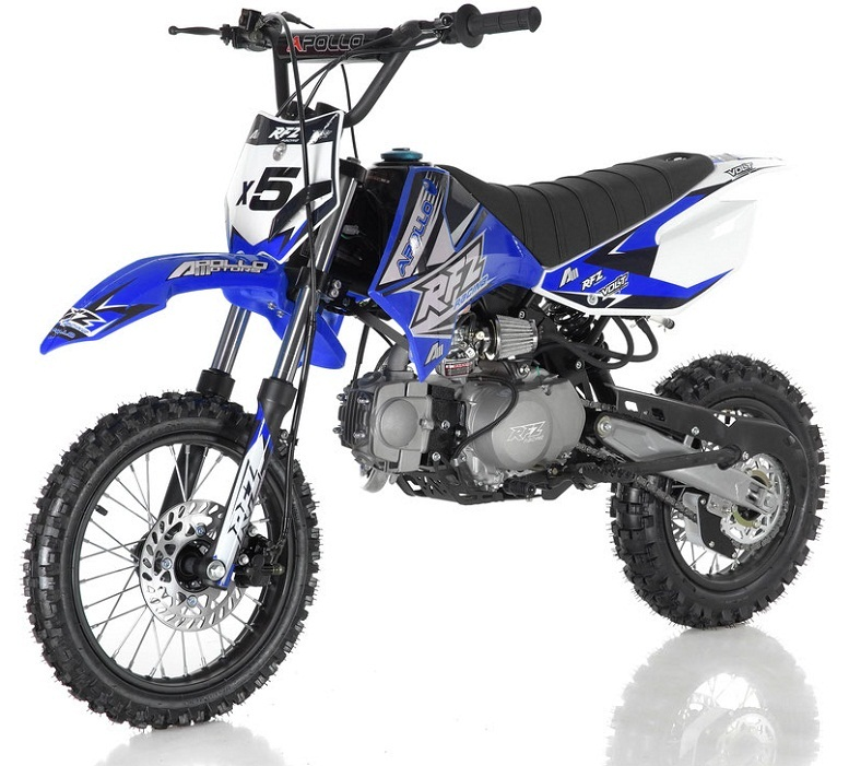 APOLLO DB-X5 125cc MANUAL SHIFT Dirt Bike, 4 stroke, Single Cylinder - Fully Assembled and Tested