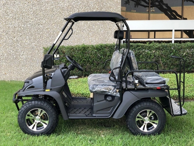Black - Fully Loaded Cazador OUTFITTER 200 Golf Cart 4 Seater UTV - Fully Assembled and Tested