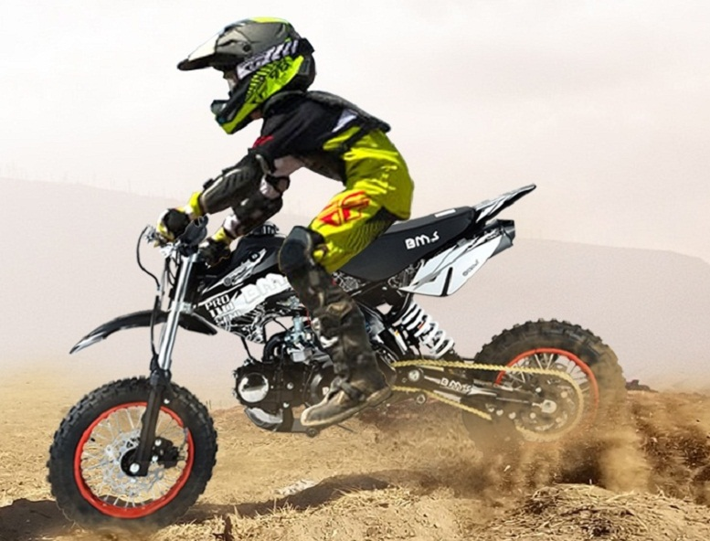 BMS PRO 110 Dirt Bike, 107cc 4-Stroke, Manual Clutch