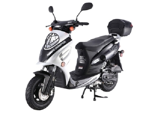 Taotao CY-50A 49cc Gas Automatic Scooter Moped Electric with Keys, Kick Start Back up Scooter - Fully Assembled and Tested