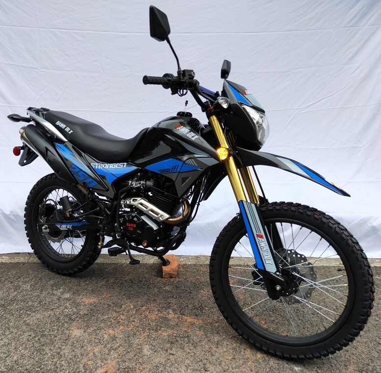 HAWK DLX 250CC DOT BIKE HAWK DELUXE MODEL FOR SALE - FULLY ASSEMBLED AND TESTED