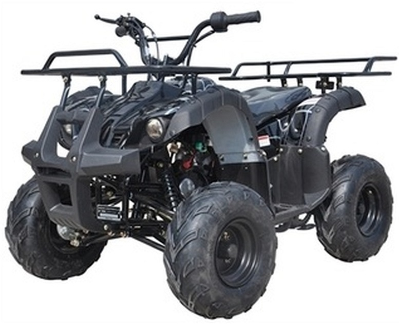 """Ice Bear 125CC Youth Quad Atv Automatic With Reverse, Remote Kill, 7"""" Wheel (Pah125-8S), Air Cooled, 4-Stroke,"""