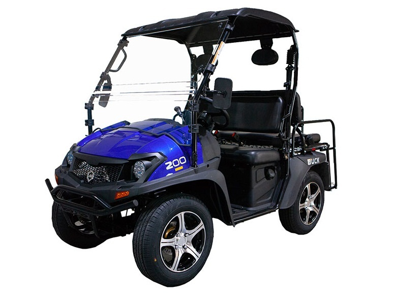 Blue - Massimo Buck 200X UTV, 177cc EFI Four-Stroke, Single Cylinder - Fully Assembled and Tested