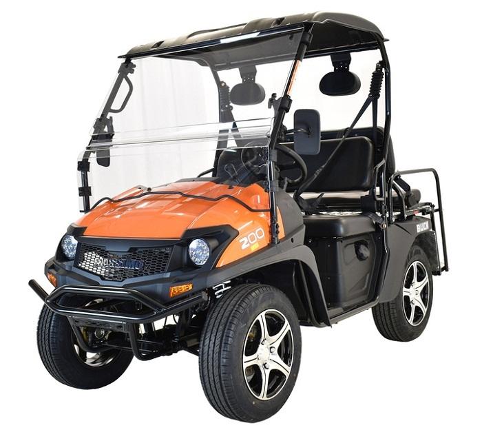 Orange - Massimo Buck 200X UTV, 177cc Four-Stroke, Single Cylinder EFI