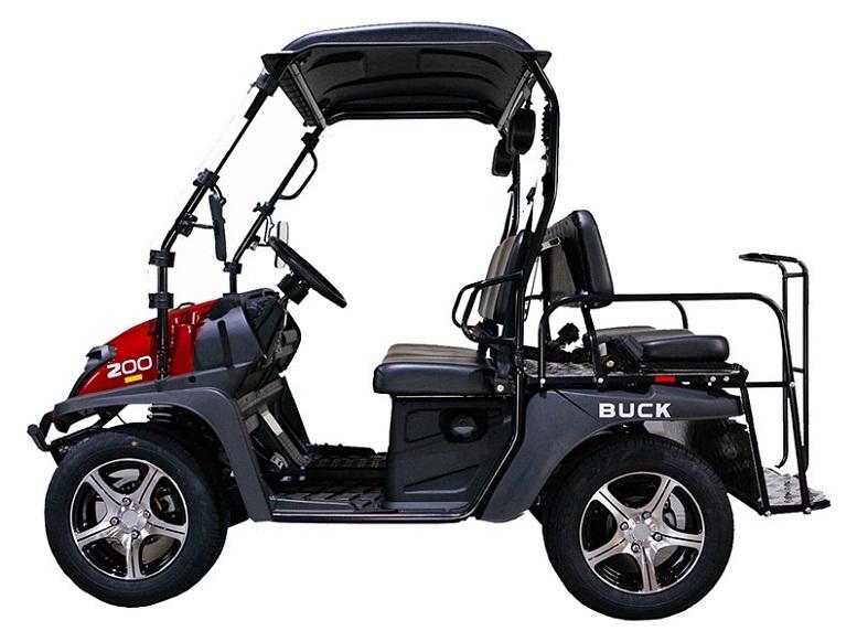 Red - Massimo Buck 200X UTV, 177cc Four-Stroke, Single Cylinder EFI