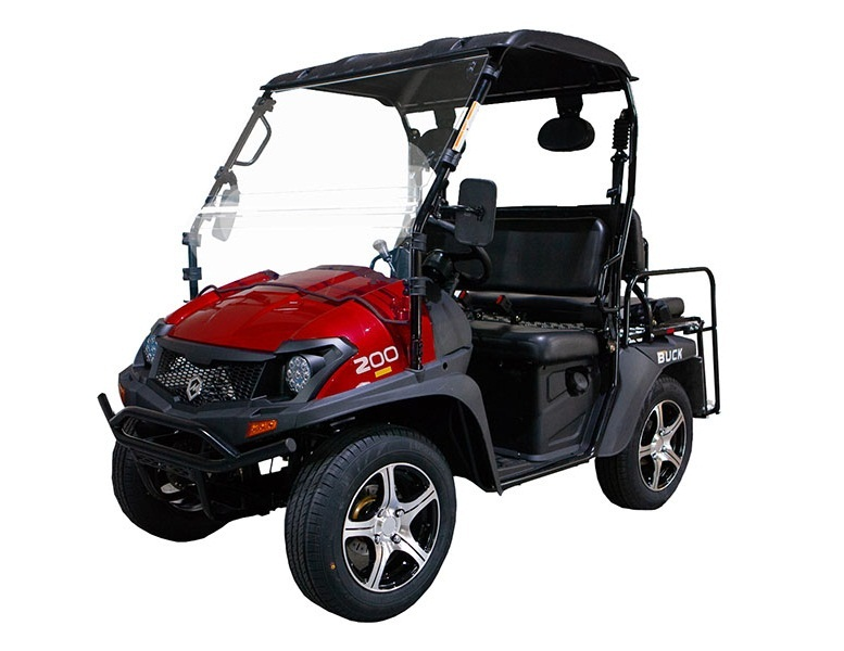Red - Massimo Buck 200X UTV, 177cc Four-Stroke, Single Cylinder EFI - Fully Assembled and Tested