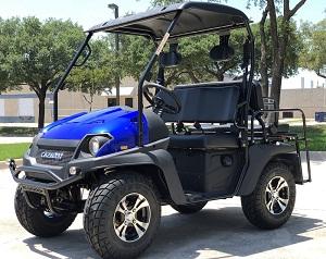 Blue - Fully Loaded Cazador OUTFITTER 200 Golf Cart 4 Seater UTV