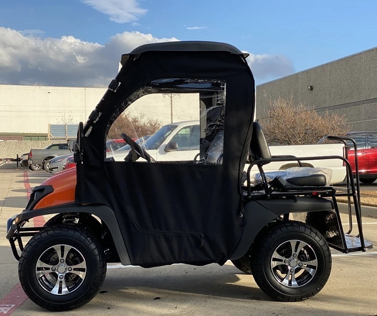 Red - Fully Loaded Cazador OUTFITTER 200 Golf Cart 4 Seater UTV