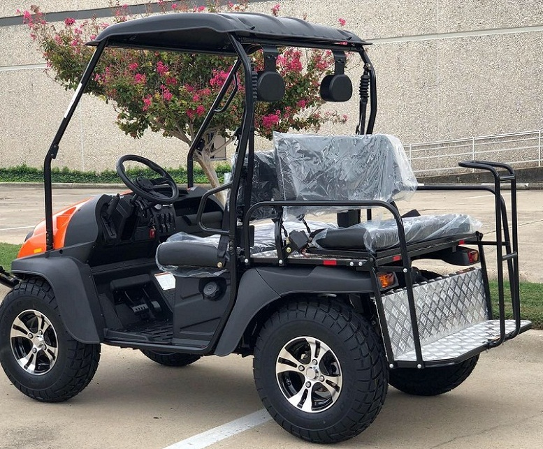 Red - Fully Loaded Cazador OUTFITTER 200 Golf Cart 4 Seater UTV - Fully Assembled and Tested