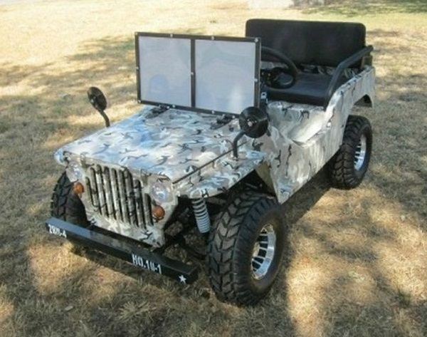 Rps Egl Elite Jeep Off-road 125Cc Mini Go-kart With Chrome Rims, Single Cylinder, Air-cooled, 4-stroke - Fully Assembled And Tested