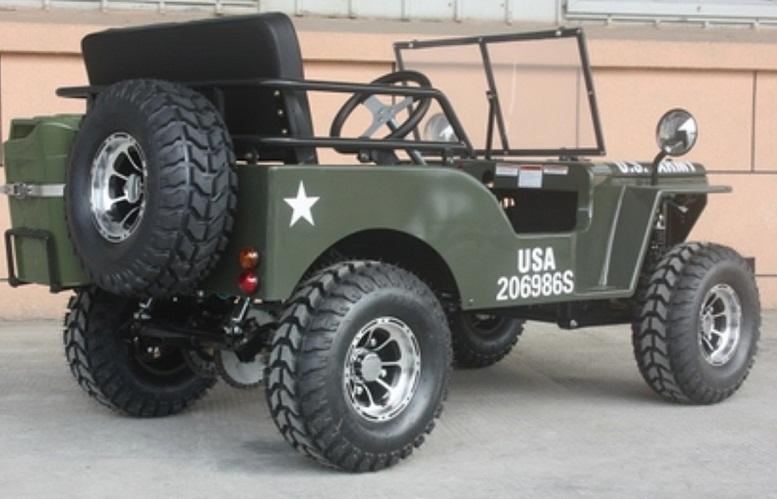 RPS EGL Elite Jeep Off-Road 125cc Mini Go-Kart With Chrome Rims, Single Cylinder, Air-Cooled, 4-Stroke