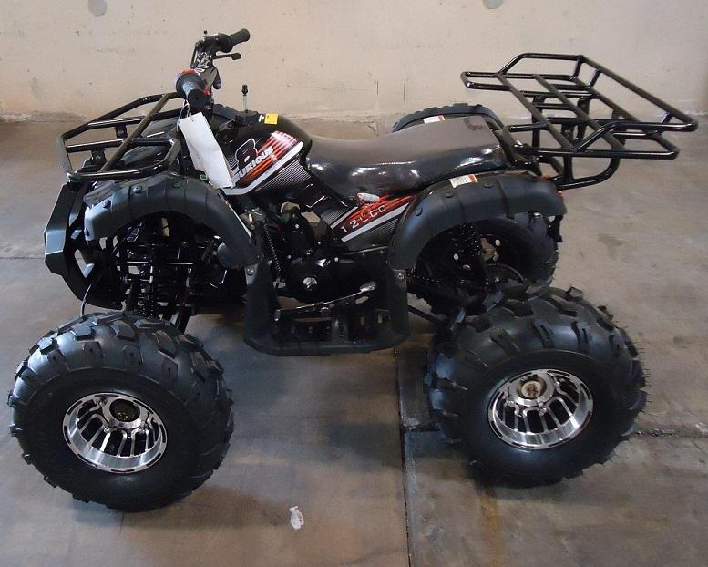 RPS High End Raider 8 125cc Kids ATV w/Upgraded Chrome Rims, Air Cool, Single Cylinder, 4-Stroke