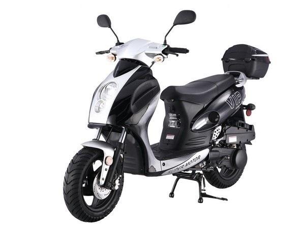 Taotao 150cc Pilot Moped Gas Scooter Electric Start, Kick Start Back Up CA Legal