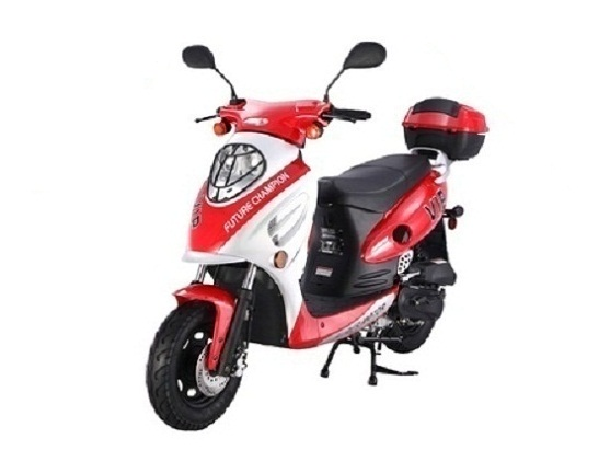 Taotao VIP-50 Gas Automatic Scooter Moped Electric With Keys, Kick Start Back Up Scooter - Fully Assembled And Tested