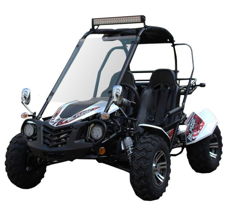 TrailMaster Blazer200X Go Kart with Automatic CTV w/Reverse, Electric Start