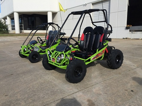 TrailMaster Mini XRX+ (Plus) Upgraded Go Kart with Bigger Tires, Frame, Wider Seat