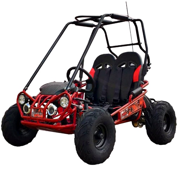TrailMaster Mini XRX/R+ A Upgraded Go Kart with Bigger Tires, Frame, Wider Seat
