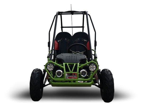 TrailMaster Mini XRX/R+ (Plus) Upgraded Go Kart with Bigger Tires, Frame, Wider Seat