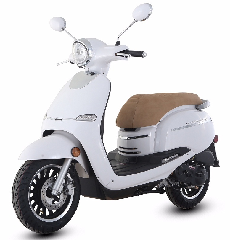 Trail Master Turino 50A Scooter, With Electric and kick start, Fully Assembled In Crate