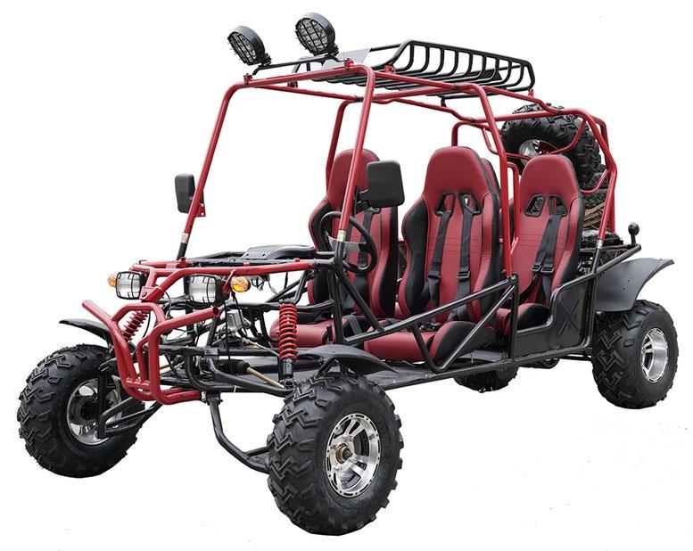 New Vitacci Hummer 200cc 4Seats (TK200GK-6) Go Kart, Air-Cooled, 4 Stroke
