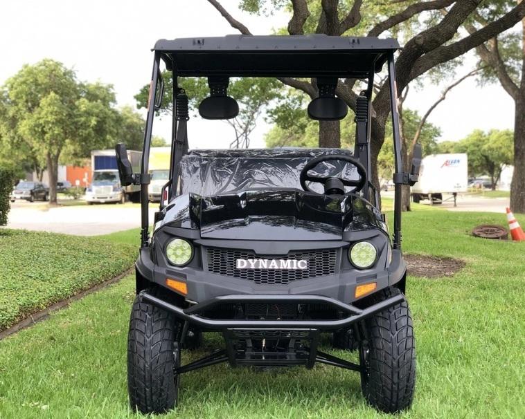 Black - Fully Loaded Cazador OUTFITTER 200 Golf Cart 4 Seater UTV