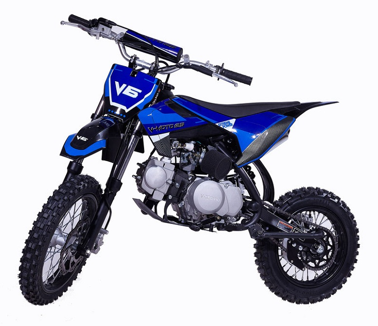 VITACCI DB-V6 125cc Dirt Bike, Kick Start, Single Cylinder, 4-Stroke, Air Cooled
