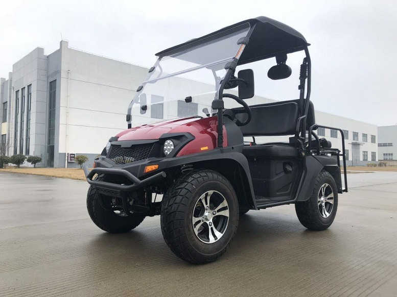 Red - Trailmaster Taurus 200 MFV (Side By Side) 4-Stroke, Single Cylinder, Air And Oil Cooled