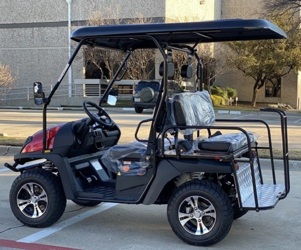 BURGUNDY- Cazador Outfitter 200x Fully Loaded Golf Cart 4 seater