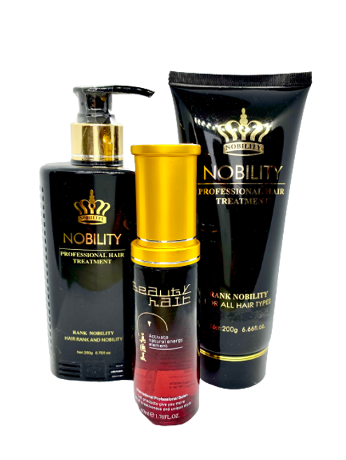 Nobility ,,Three-element moisturizing  shampoo ''260ml+Nobility cream mask for hair+Magic hair oil 60ML