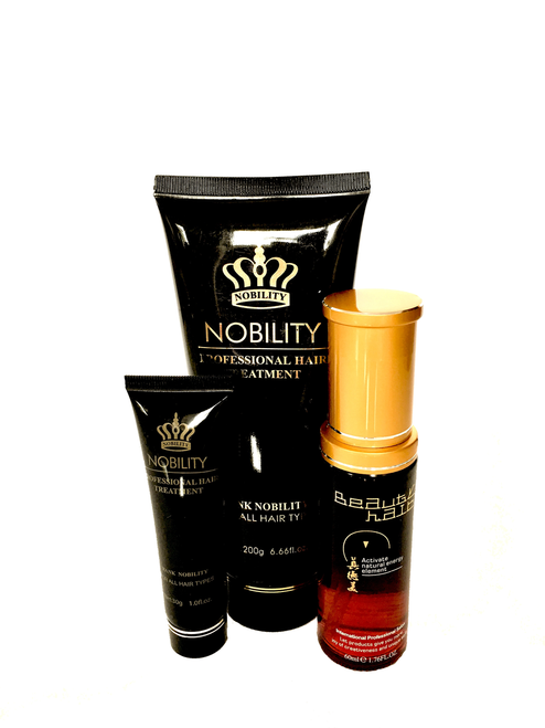 Nobility Three -element healing  hair cream-mask 200g+ Magic hair 60ml+Serum for hair 30ml
