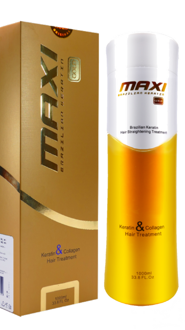 'Maxi Gold' Conditioner 500ml     Enriched with Keratin, Proteins and other useful hair elements that provide energy, penetrate into the deepest layers and nourish the hair. Prevents the hair tips from branching, making the hair elastic and easy to shine, silky and shiny. Can be used after hair straightening and lamination.