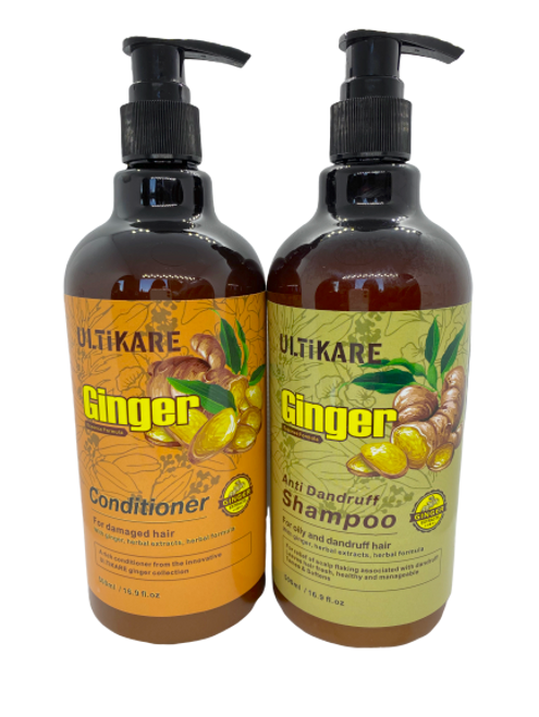 Ulticare Ginger Antidandruff Shampoo 500ml+ Ulticare Ginger Conditioner 500ml