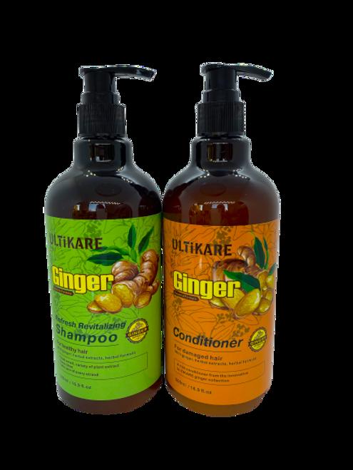 Ulticare Ginger Refresh Revitalizing Shampoo 500ml+Ulticare Giger Conditioner 500ml