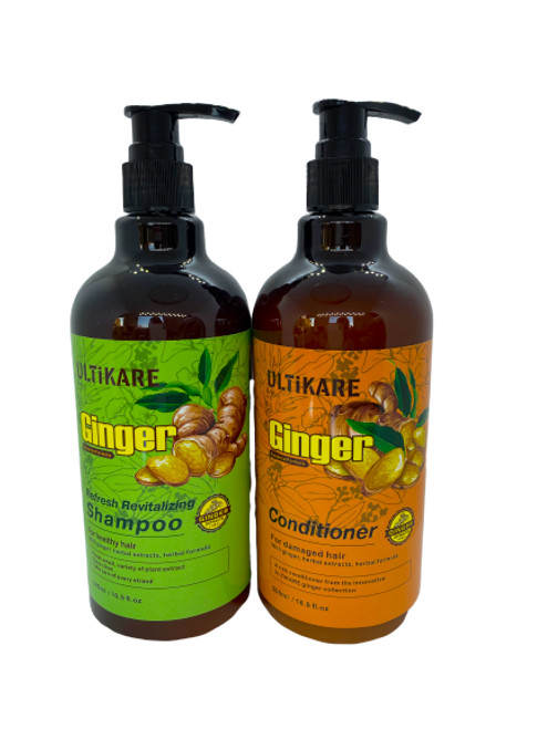 Ulticare Ginger Refresh Revitalizing Shampoo 500ml+Ulticare Giger Conditioner 500ml
