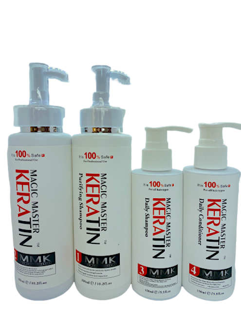 Magic Master Keratin Purify Shampoo 300ml+ Magic Master Keratin 300ml+ Magic Master Keratin Daily Shampoo150ml+ Magic Master Keratin Daily Conditioner 150ml