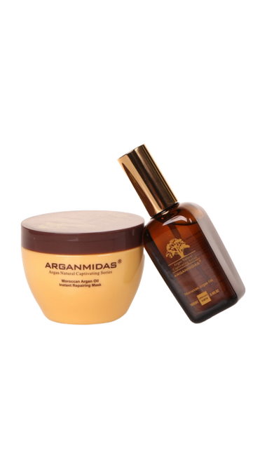 Arganmidas Moroccan Argan Oil Instant Repairing Mask 300ml+Arganmidas Arganoil hair oil 50ml