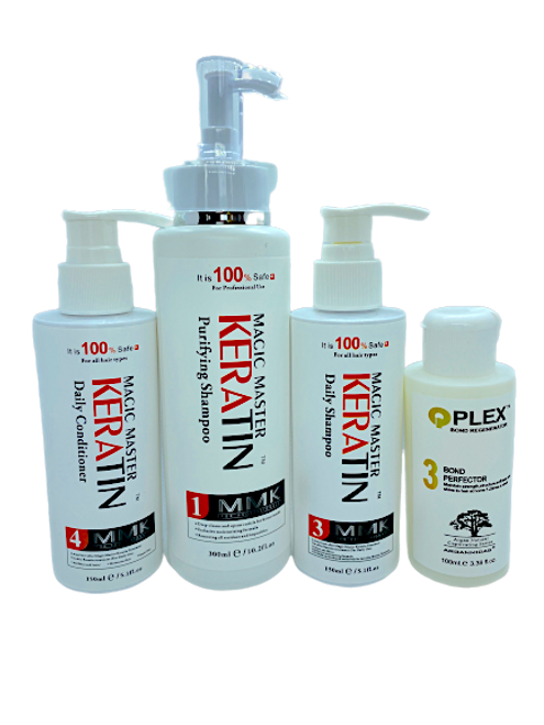 Magic Master Keratin Purify Shampoo 300ml+ Magic Master Keratin Daily Shampoo150ml+ Magic Master Keratin Daily Conditioner 150ml+Qplex 3 100ml