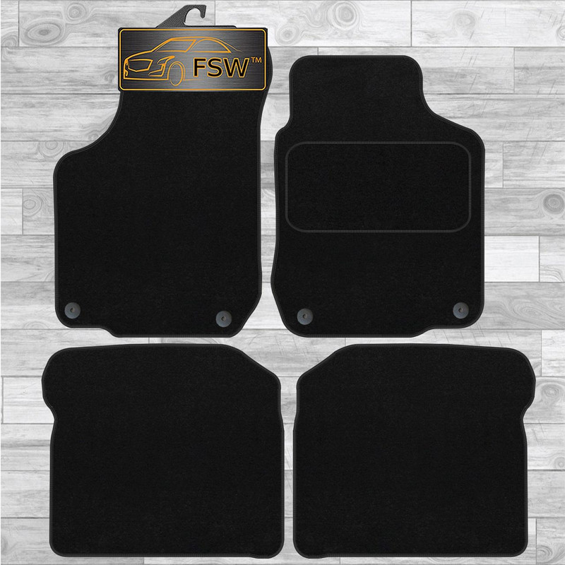 Tailored Car Mats ALL BEIGE TAN 2 Clip VW LUPO 99-05
